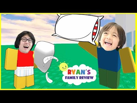 ROBLOX Pillow Fight! Let's Play Family Game Night with Ryan's Family Review