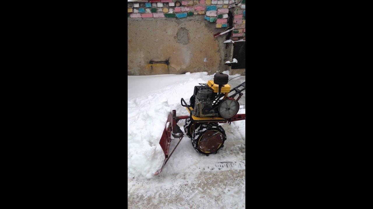 Как сделать мотоблок по снегу 341