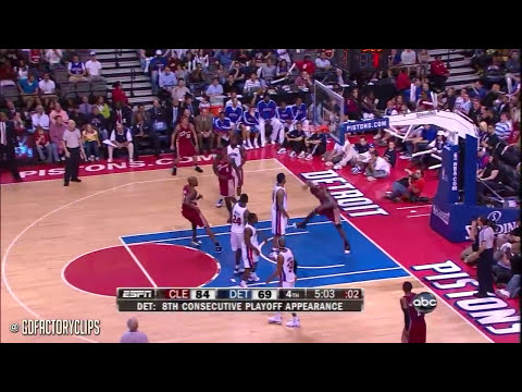 Throwback: Lebron James 2009 Playoffs 1st Round Highlights vs Detroit Pistons (HD 720)