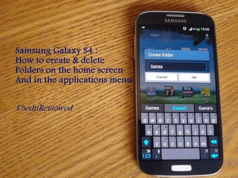 Samsung Galaxy S4 : How to create folders on home screen and app menu (Folders S4)