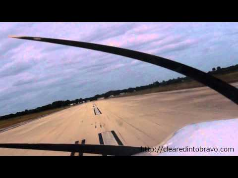 Landing Okeechobee,FL (KOBE) Runway 5 from Sanford, FL (KSFB) - $100 hamburger at Landing Strip Cafe