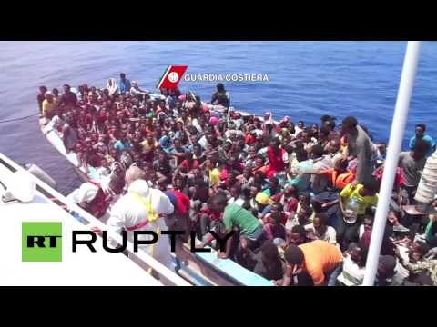 Libya: 888 migrants picked up by Italian coast guard