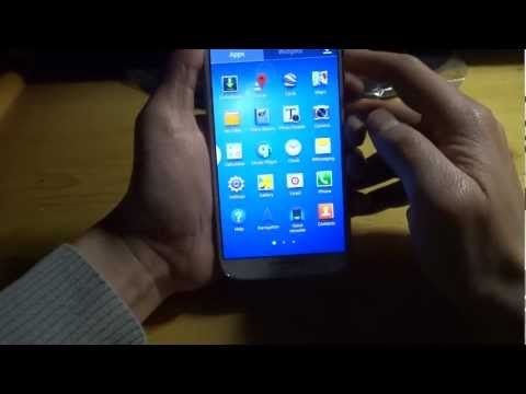 Samsung white Galaxy S4 i9500 Android 4.2.2 Test 3 (media)