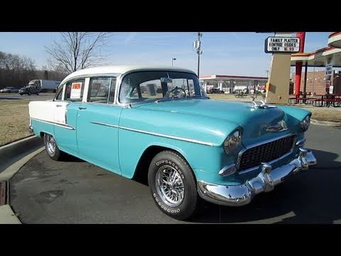 1955 Chevrolet Bel Air Start Up, Exhaust, and In Depth Tour