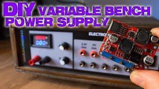 DIY variable bench power supply (less than 10$)