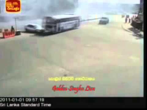 Sri Lanka Accident Bus And Car Cctv video