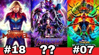 Marvel ke sare 22 movie ki Ranking | Best marvel movies of all time from iron man to endgame