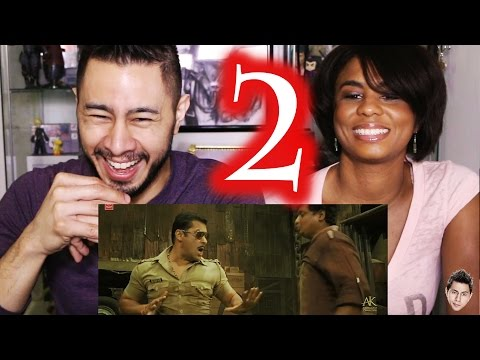 DABANG 2 trailer reaction review by Jaby & Cortney!