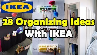 28 Organizing Ideas With IKEA