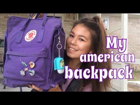My American Backpack☼Что в моем американском рюкзаке?