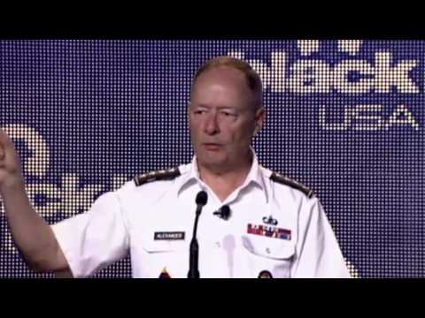 General Keith Alexander, NSA chief and leader of US Cyber Command, spoke with attendees in his keynote speech at the Black Hat conference on Wednesday. (Vide...