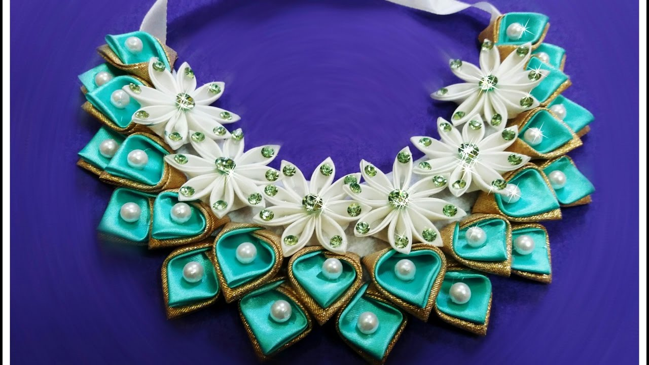 Ожерелье своими руками канзаши 71