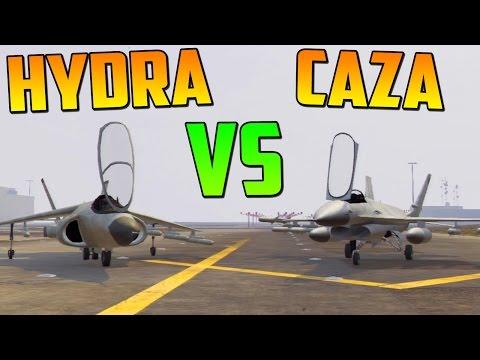 HYDRA VS CAZA - TEST DE VELOCIDAD - GAMEPLAY GTA 5 ONLINE DLC Atracos a Bancos - Heist GTA V Online