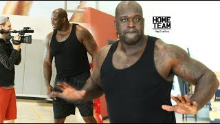 SHAQ Still Has It! Steph Curry Range?? -  1 ON 1 Game vs James Hunt