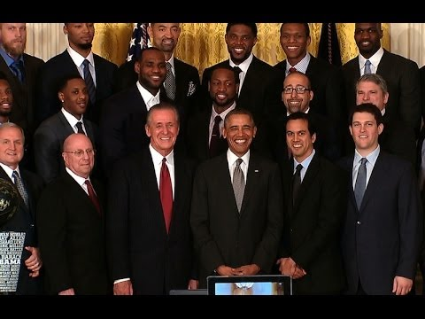President Obama Honors the 2013 NBA Champion Miami Heat