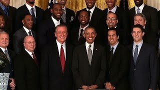 President (Obama) Honors the 2013 NBA Champion Miami Heat  1/15/14