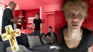 PRIEST PERFORMS EXORCISM IN MY HAUNTED APARTMENT!