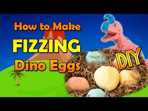 DIY Dinosaur Eggs: How to Make FIZZING magic hatching dinosaur surprise eggs