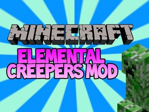 Minecraft Mod Spotlight – More Elemental Creepers Mod