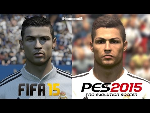 FIFA 15 vs PES 2015 REAL MADRID Face Comparison