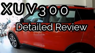 Mahindra XUV300 W8 Most Detailed Review | Interior | Exterior | Steering Comfort | Dual AC