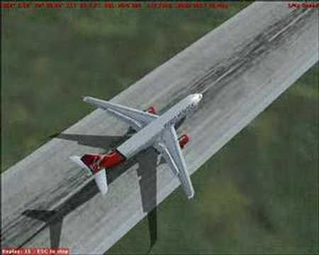 I no longer play Flight Simulator. Please don't ask about anything related to it, as I will likely not respond. A Virgin Atlantic A330-300 landing at Aalborg.