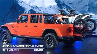 Jeep Gladiator L.A. Auto Show Reveal in just 14 minutes