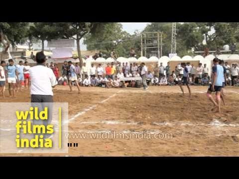 Men Playing Kabaddi : Pushkar Mela, Rahasthan video