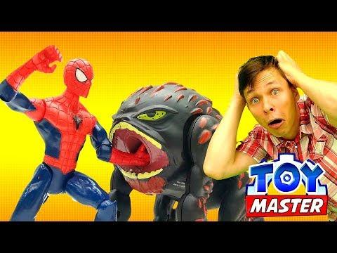 ✌ #ТойМастер и #ЧеловекПаук выпустили #ТЕУТАН 👾 Видео игрушки #супергерои Битва игра для мальчиков