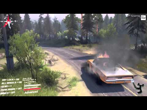 SpinTires - General Lee Review, We on Fire Ricky Bobby