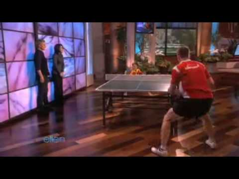 Seven Year old Chinese Table Tennis Prodigy Xin-Xue Feng  on Ellen (22-11-09) Music Videos