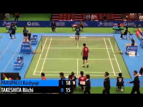 R32 - MS - Takeshita Riichi vs Kashyap Parupalli - 2014 Badminton Japan Open