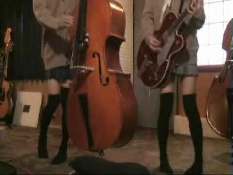 Rock This Town を演ってみた ロカビリー女子高生★duobilly☆