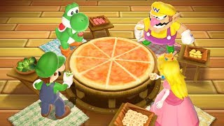 Mario Party 9 Garden Battle Yoshi Wario Luigi Peach All Funny Mini Games