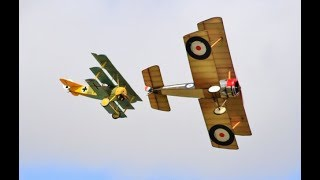 """DAWN PATROL"" GIANT 1/3 SCALE MULTIPLE RC WW1 SCOUT / FIGHTERS DISPLAY- WILLIS WARBIRDS MEET - 2017"