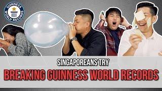 Singaporeans Try: Breaking Guinness World Records | EP 81