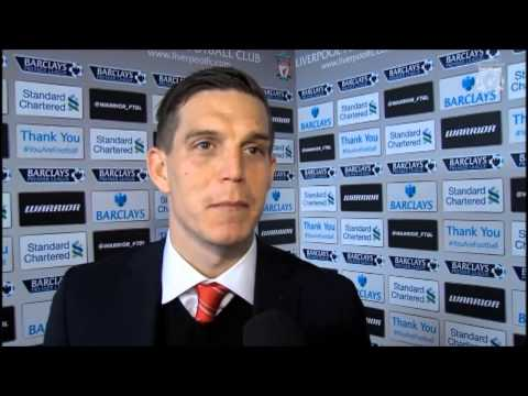 Daniel Agger Post Match Liverpool 2-1 Sunderland Interview 26/03/14