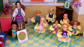 BACK TO SCHOOL! - ELSA & ANNA Toddler Dolls - NEW STUDENTS - New Teacher - Jasmine first day