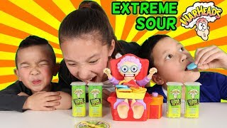Extreme Sour Warheads Challenge With Greedy Granny Game Ckn Toys