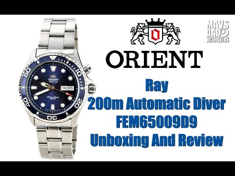 Great Budget Diver!   Orient Ray 200m Automatic Diver FEM65009D9 Unboxing And Review