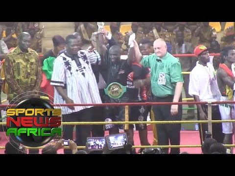 Sports News Africa Expess: Alexis Kabore retained his World Boxing bantamweight title
