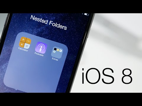 How To Create Nested Folders On iOS 8 iPhone 6 Below