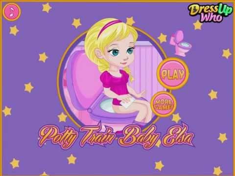 Disney Princess Baby Elsa Potty Training  Disney Frozen Games for Girls