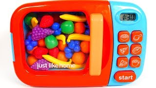 Learn Colors with Microwave and Fruit Playset for Kids | Learning with Yippee Toys