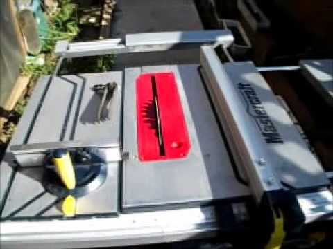 Mastercraft sliding table saw update.