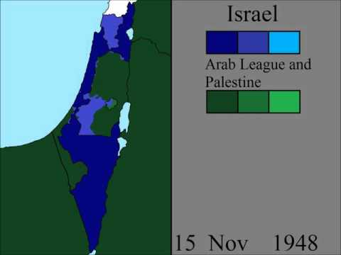 A day by day map of the 1948 Arab-Israeli War