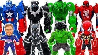 Power Rangers & Marvel Avengers Toys Pretend Play | Superhero Transform Grey Hulk Battle Toy