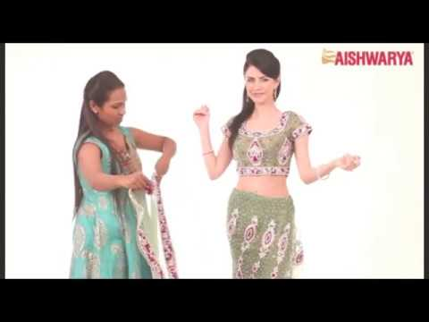 How to Drape a Ready Ghagra Style Saree