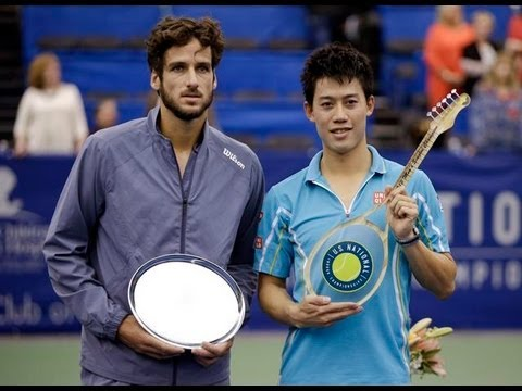 Kei Nishikori vs Feliciano Lopez 2013 Memphis Final(include winner's interview)