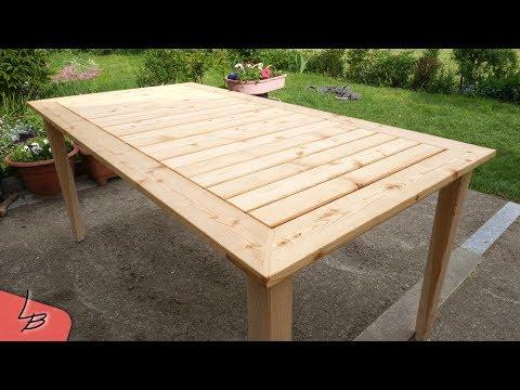 Diy Terrassen Tisch Gartentisch Selber Gebaut Sibirische Larche